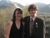 Ellery and Jamie posing for prom pictures. May, 2006